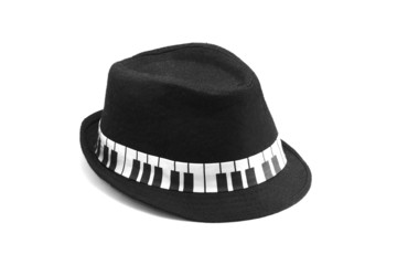 Trilby Hat with PianoBand Detail