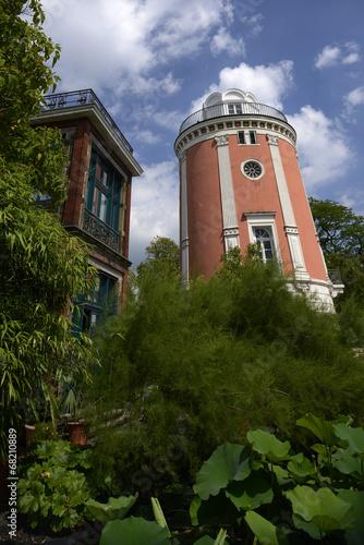 canvas print picture Botanischer Garten mit Elisenturm