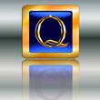 Goldplakette Q Schmuck