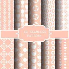 sweet pink and white seamless pattern
