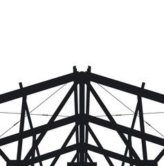Fragment metal framework on a white background