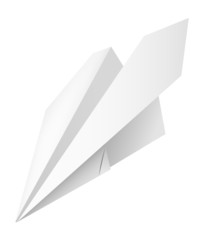 Airplane of the paper, vector illustration