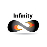 vector Limitless symbol icon on white background poster
