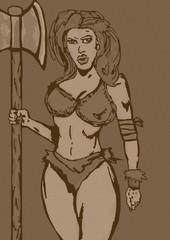 Barbarian girl vintage
