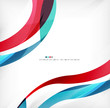 Business wave corporate background
