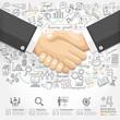 Business handshake Infographics option.