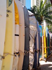 ビーチサイドのサーフボード
