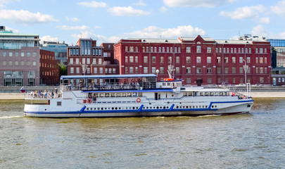 River cruise ship on the Moscow river