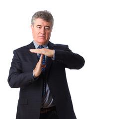 Man stop gesture