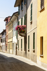 old street in town center, Soncino
