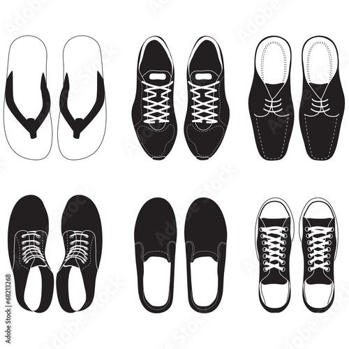 shoe vector set - 68213268