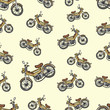 Seamless texture with an old moped 3