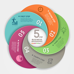 Modern business circle Infographics origami style.