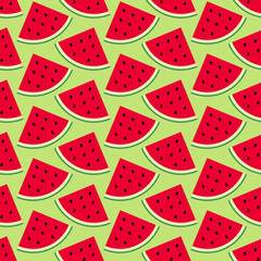 Seamless Pattern Melon Green Background