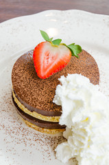 Chocolate pudding pancake