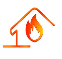 chaleur flamme dans la maison