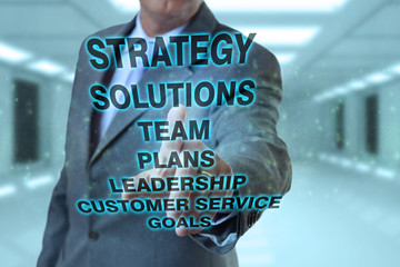 Businessman and strategy concepts