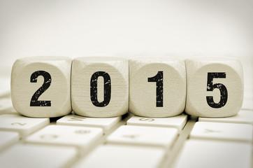 Würfel 2015 auf Tastatur