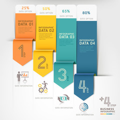 Business arrow infographics template.
