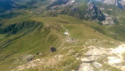 Sentiero al Mondolé dalla cima