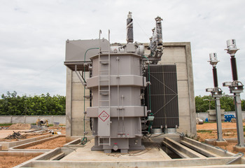 Power transformer in sub station 115 kv/22 kv wait for wiring