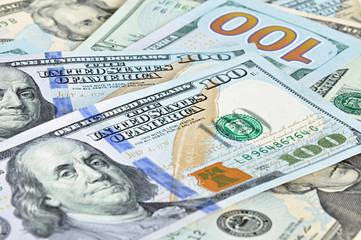 Money - 100 United States dollars (USD) bills