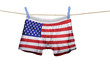 Underwear with the USA flag on a string - 68216218