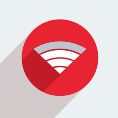 Vector mosern flat wifi circle icon