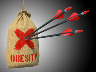 Obesity - Arrows Hit in Red Mark Target.