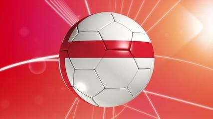 English flagged football.