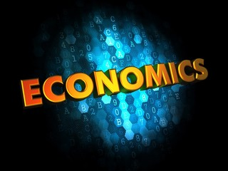 Economics Concept on Digital Background.
