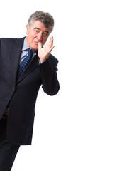Businessman derision gesture