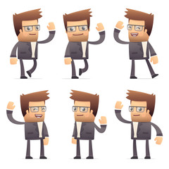 set of director character in different poses