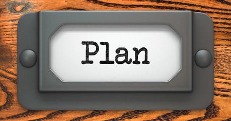 Plan Concept on Label Holder.