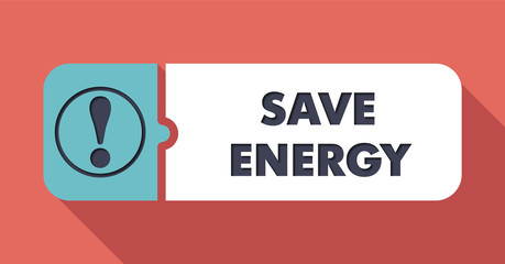 Save Energy Concept in Flat Design.