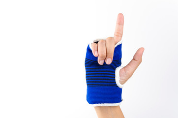 Wrist splint hand isolated white background