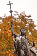 Queen Isabella Statue Marching into Granada 1492 Madrid Spain