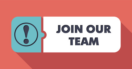 Join Our Team Concept in Flat Design.