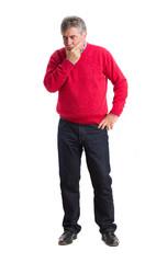 Worried man posing