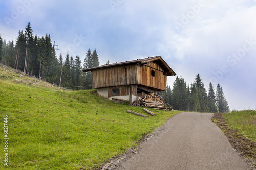 Fototapeta Alpine cabin