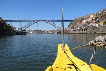 Portugal - Porto - Pont Dom-Luis vu du Douro