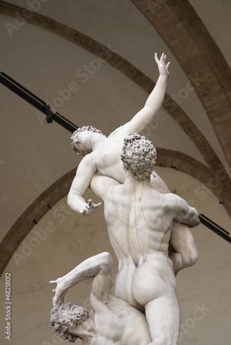 Poster Florenz, Loggia dei Lanzi, Giambologna, Raub der Sabinerinnen