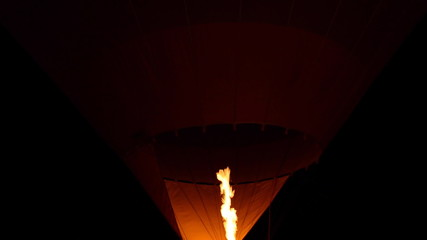 Hot air balloon, Flame of a hot air balloon.