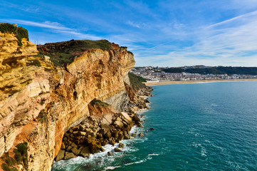 Nazare, Portugal. View from the Cliff Above