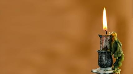 Candle Flame Burning