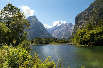 Milford track, picturesque landscape, New Zealand