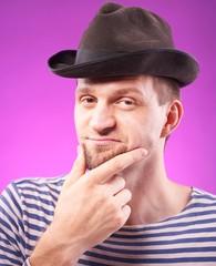 Handsome man in hat