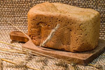 Fresh wheat bread