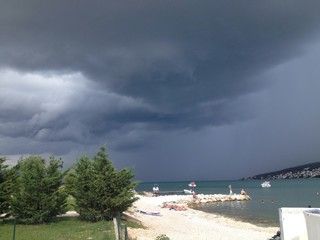 storm above split, kastela and ciovo