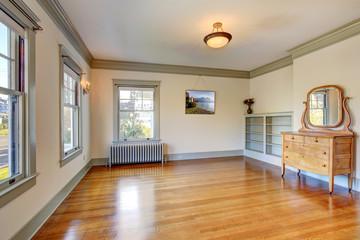 Empty room with vanity cabinet